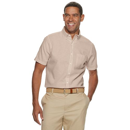 Men's Croft & Barrow® Slim-Fit Easy-Care Linen-Blend Button-Down Shirt