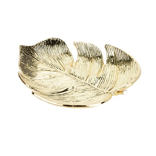LC Lauren Conrad Faux Palm Leaf Decorative Trinket Tray