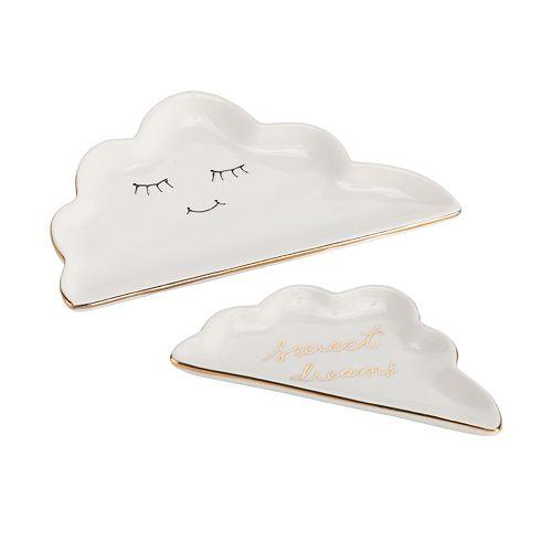 LC Lauren Conrad Stacking Cloud Decorative Trinket Tray