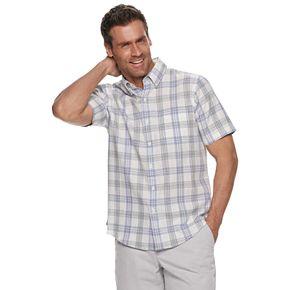 Men's Croft & Barrow® Slim-Fit Linen-Blend Easy-Care Button-Down Shirt