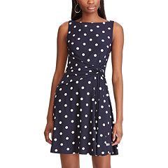Petite Chaps Fit And Flare Dress