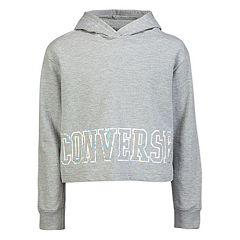Girls 7-16 Converse Cropped Pullover Hoodie