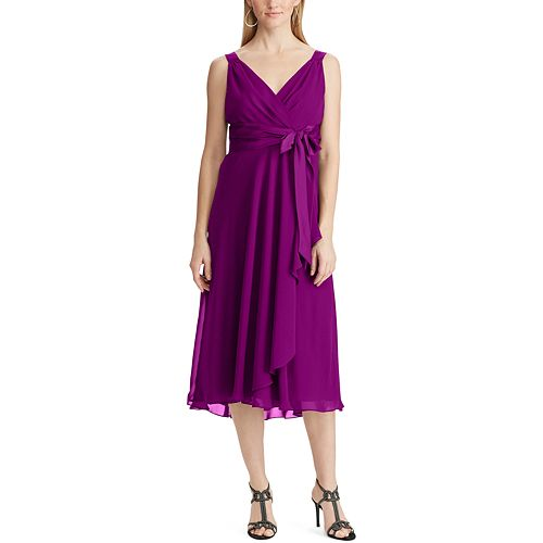 Women's Chaps Mock Wrap Dress