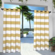 Exclusive Home 2-pack Indoor/Outdoor Stripe Cabana Window Curtains