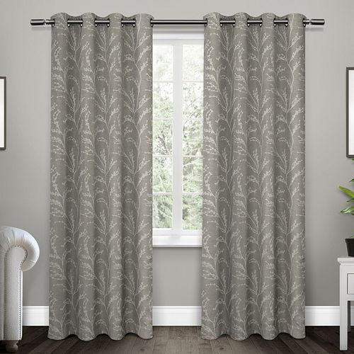 Exclusive Home 2-pack Kilberry Woven Blackout Window Curtains