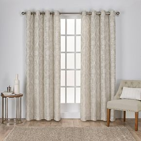 Exclusive Home 2-pack Lamont Jacquard Window Curtains