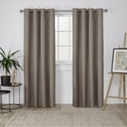 Exclusive Home 2-pack London Textured Woven Blackout Window Curtains