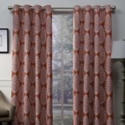 Exclusive Home 2-pack Queensland Medallion Sateen Woven Blackout Window Curtains