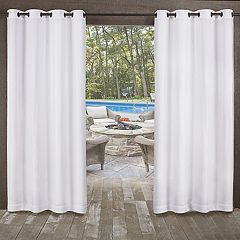 Exclusive Home 2-pack Miami Indoor/Outdoor Textured Window Curtains