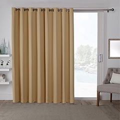 Exclusive Home 2-pack Sateen Patio Woven Blackout Window Curtains
