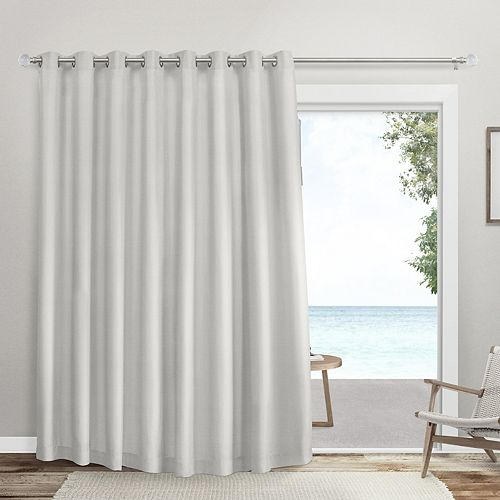 Exclusive Home 1-Panel Double Wide Sateen Patio Woven Blackout Window Curtain