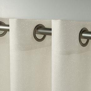Exclusive Home 2-pack Sparkles Heavyweight Metallic Fleck Textured Linen Window Curtains