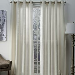 Exclusive Home 2-pack Sparkles Heavyweight Metallic Fleck Textured Linen Window Curtains