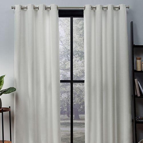 Exclusive Home 2-pack Oxford Textured Sateen Woven Blackout Window Curtains