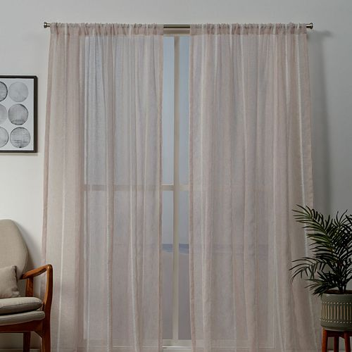 Exclusive Home 2-pack Santos Embellished Sheer Window Curtains