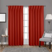 Exclusive Home 2-pack Sateen Twill Woven Blackout Pinch Pleat Window Curtains