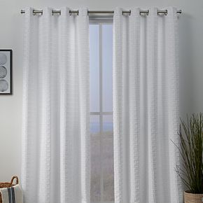 Exclusive Home 2-pack Squared Embellished Window Curtains