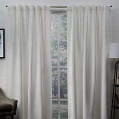 Exclusive Home 2-pack Sateen Twill Woven Blackout Window Curtains