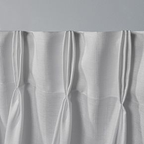 Exclusive Home 2-pack Loha Linen Pinch Pleat Window Curtains