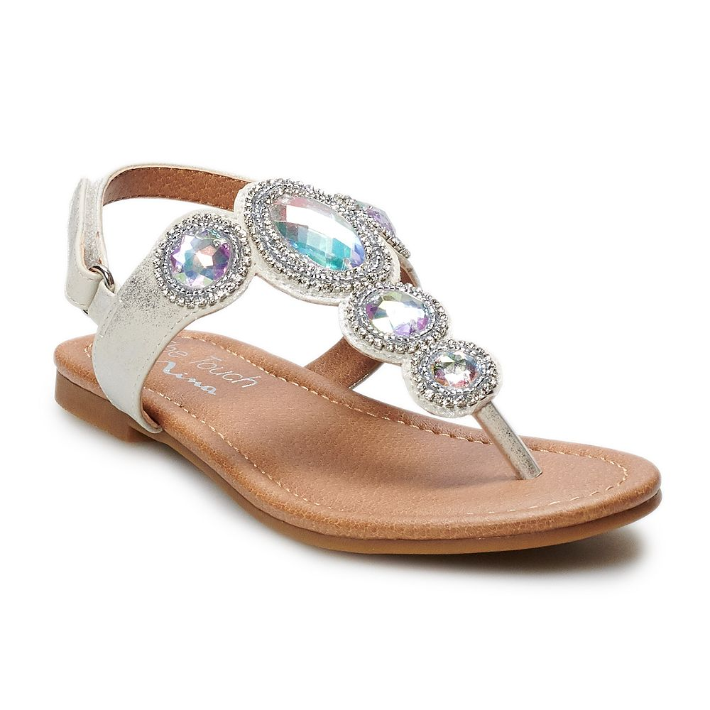 Touch of Nina Kiddo Girls' Jeweled Dress Sandals