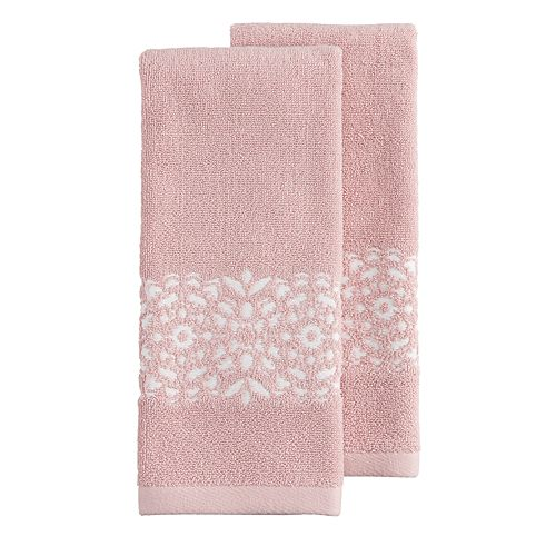 LC Lauren Conrad 2 Pack Medallion Hand Towels