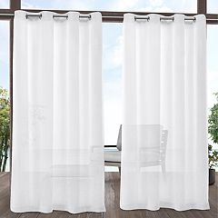 Exclusive Home 2-pack Tao Indoor/Outdoor Sheer Linen Window Curtains