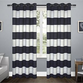Exclusive Home 2-pack Rugby Sateen Woven Blackout Window Curtains