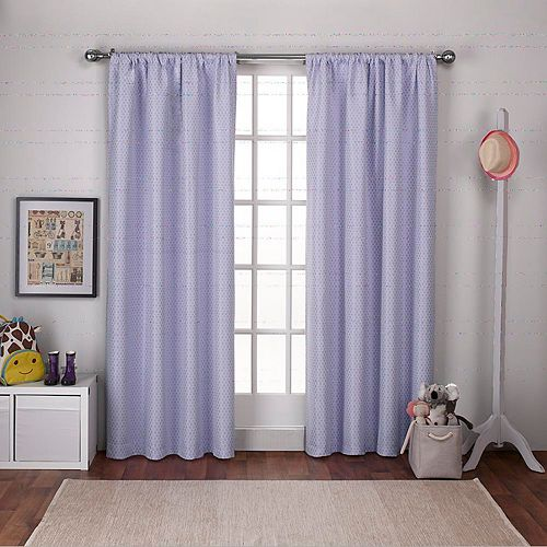 Exclusive Home 2-pack Polka-Dot Jacquard Blackout Window Curtains