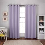 Exclusive Home 2-pack Textured Woven Blackout Window Curtains