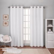 Exclusive Home 2-pack Textured Linen Woven Blackout Window Curtains