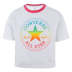 13da1d32 Girls 7-16 Converse Rainbow Chuck Patch T-Shirt