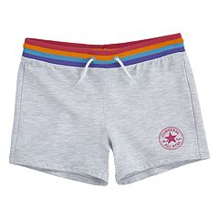 Girls 7-16 Converse Rainbow French Terry Shorts