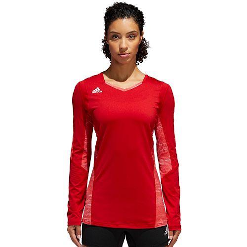 Women's adidas Quickset Long Sleeve Volleyball Jersey