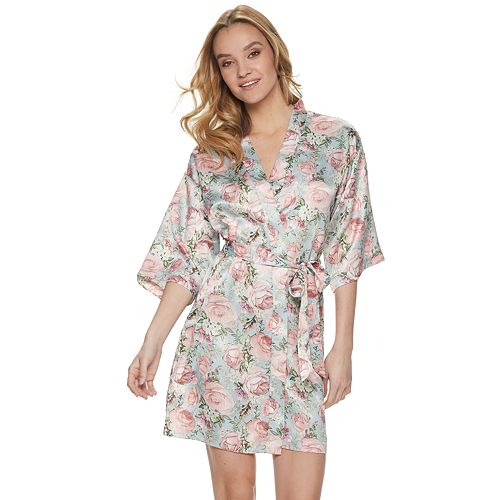 Women's Flora by Flora Nikrooz Charmeuse Wrap Robe