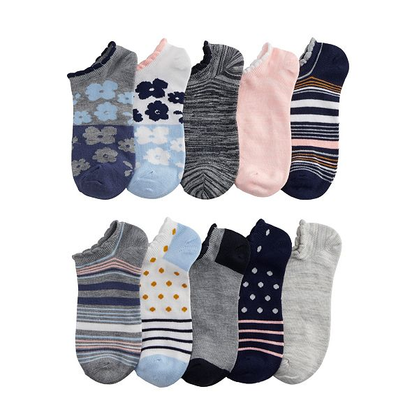 10-Pack Women's Sonoma Goods for Life No-Show Novelty Socks
