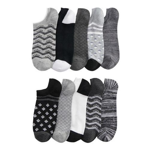 Women's SONOMA Goods for Life™ 10-Pack No-Show Novelty Socks