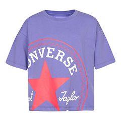 c2dae5458078d4 Girls Converse 7-16 Converse Multicolor Chuck patch T-shirt
