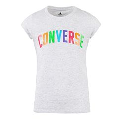ee6e037d Sneaker Short Sleeve T-Shirt. Girls Converse 7-16 Converse Rainbow Speckle T -Shirt