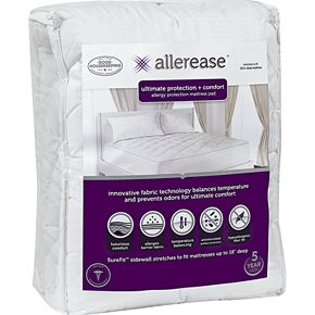 AllerEase Ultimate Comfort Allergy Protection Mattress Pad