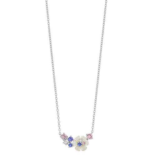 Brilliance Flower Cluster Necklace with Swarovski Crystals