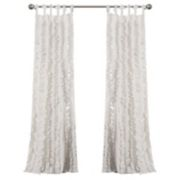 Lush Decor 2-pack Sophia Ruffle Window Curtains