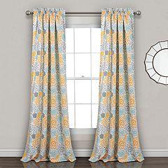 Lush Decor 2-pack Blooming Flower Room Darkening Window Curtains