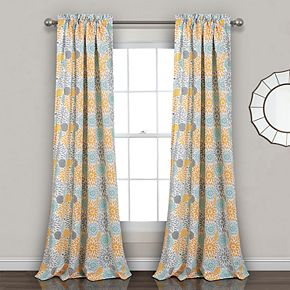 Lush Decor 2-pack Blooming Flower Room Darkening Window Curtains