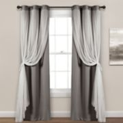 Lush Decor 2-pack Sheer Window Curtains