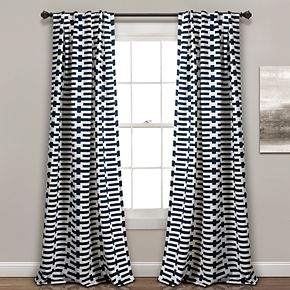 Lush Decor 2-pack Austin Geo Room Darkening Window Curtains