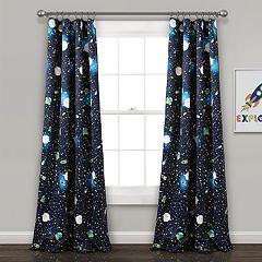 Lush Decor 2-pack Universe Room Darkening Window Curtains