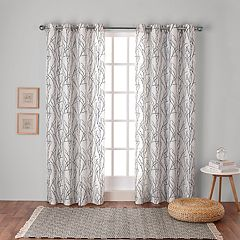 Exclusive Home 2-pack Branches Linen Blend Window Curtains