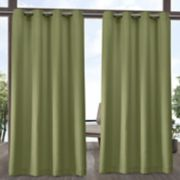 Exclusive Home 2-pack Indoor/Outdoor Solid Cabana Window Curtains