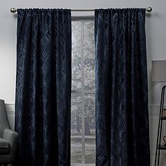Exclusive Home 2-pack Elena Wave Chenille Window Curtains