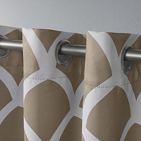 Exclusive Home 2-pack Durango Geometric Print Sateen Woven Blackout Window Curtains